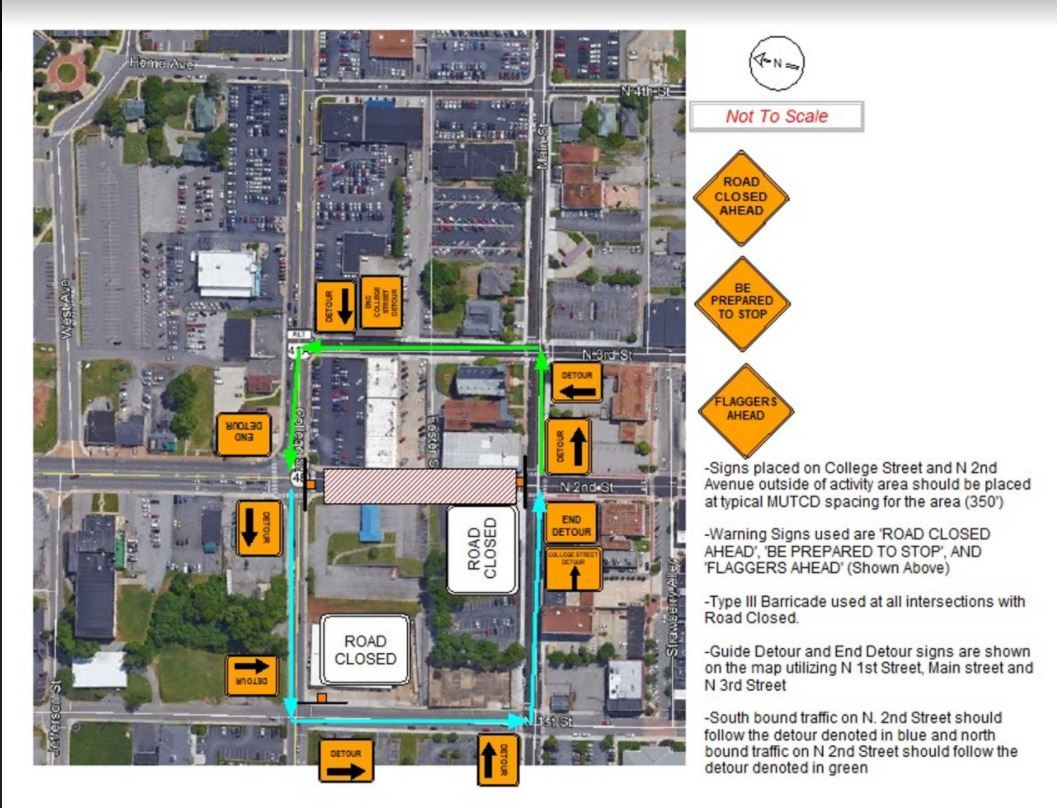 NORTH 2ND STREET CLOSURE 9-14-2020 FOR TWO-THREE WEEKS