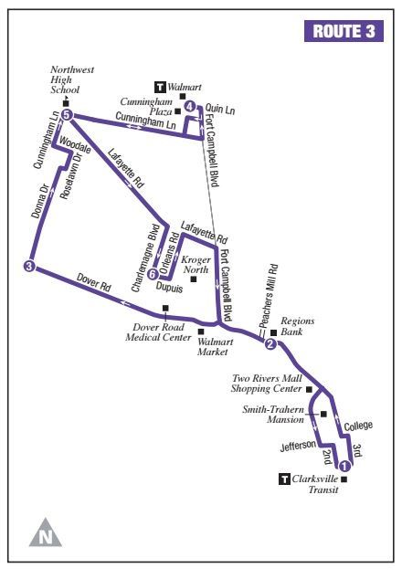 Route 3 Map